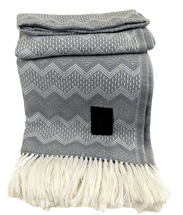 Alpaca Wool Throws Baby Blanket - Light Gray