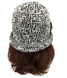 Acrylic Women's Beanie Flapper Hat Gray Color
