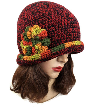 Handmade Flapper Beanie One Size Multi - Color