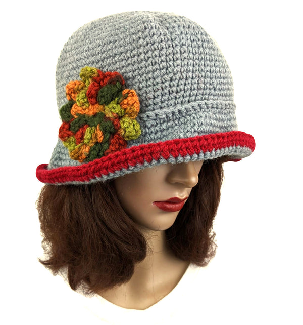 Beanie Flapper Flower Winter Hat