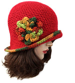 Handmade Red Flapper Hat