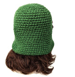 Acrylic Beanie Flapper Hat Handmade Green Color