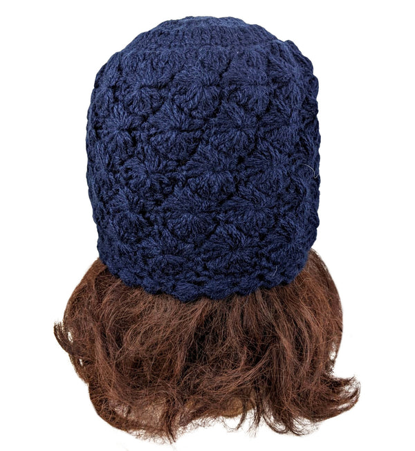 Alpaca Beanie Beret Navy Color One Size