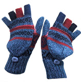 Alpaca  Convertible Mittens Sapphire Color