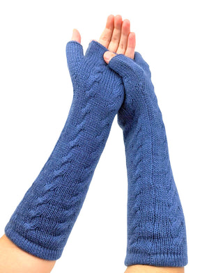 Alpaca Finger - Less Gloves Aegean Blue