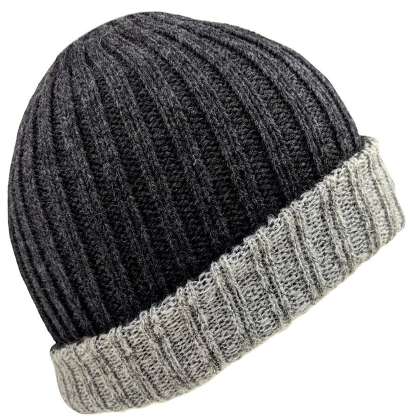 Men's Alpaca Beanie Gray Color
