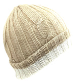Men's Beanie Beige Solid Color