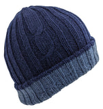 Men's Beanie Navy Solid Color