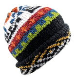 Black Wool Multi-Color Hat