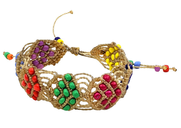 Multi-Color Beige Bracelet Handmade
