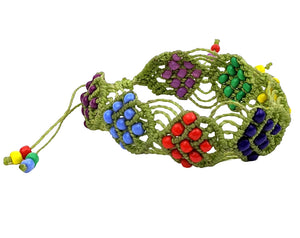 Multi-Color Green Bracelet Handmade