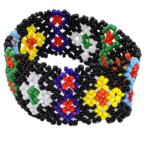 Black Multi-Color Handmade Bracelet