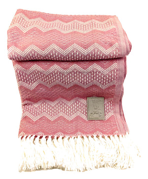 Alpaca  Wool Throws  Blanket Pale Pink
