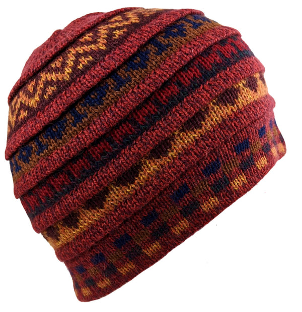 Alpaca Beanie Winter Hat Munsell Red