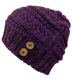 Beanie Knitted Alpaca Purple Hat