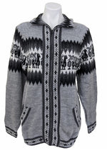 Alpaca Sweater Cardigan (Gray)
