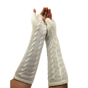 Finger - Less Alpaca Women's Gloves (Ivory)