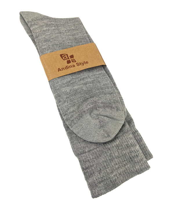 SUPER FINE ALPACA SOCKS GRAY COLOR