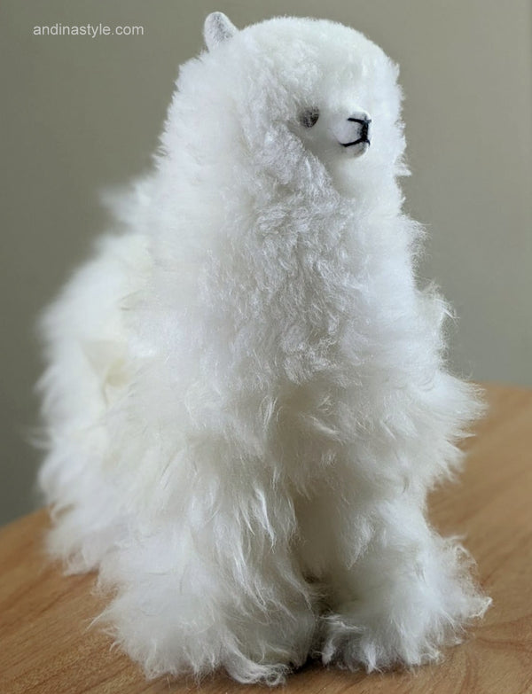 Handmade Alpaca - LLama Fur Off White Color
