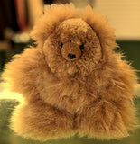 Baby Alpaca Fur Handmade Bear 10 Inch Brown Color