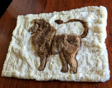 Alpaca Rug Lion Design