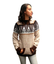 Load image into Gallery viewer, Alpaca Sweater Cardigan (Beige)