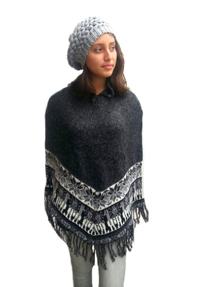 Alpaca Gray Shawl One Size Regular