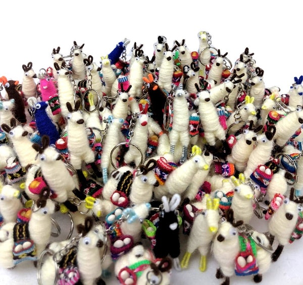 Llama Alpaca Key-chain Andean Collectible Handcrafted Ornament