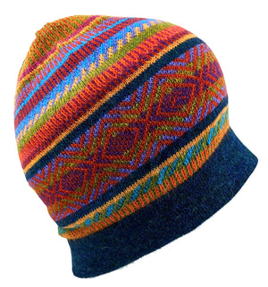 Alpaca Beanie Multi-Color Light Weight