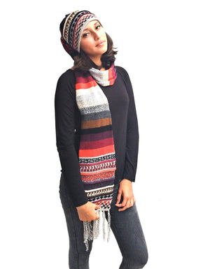 Alpaca Multi Color Scarf