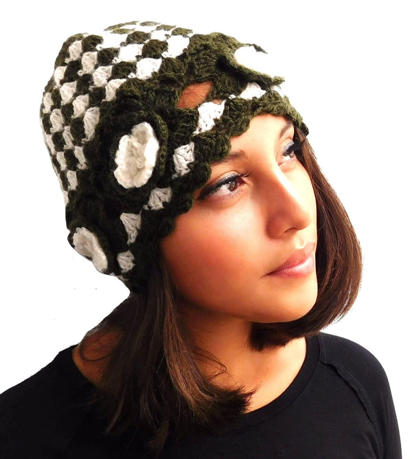 Artichoke Green Color Handmade Beanie