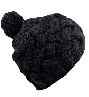 Pom-Pom Hat  Black  Color