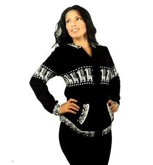 Black & White Alpaca Sweater Small Size