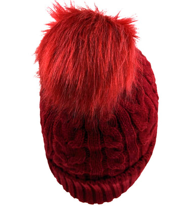 Pom-Pom Hat High Quality Red Color