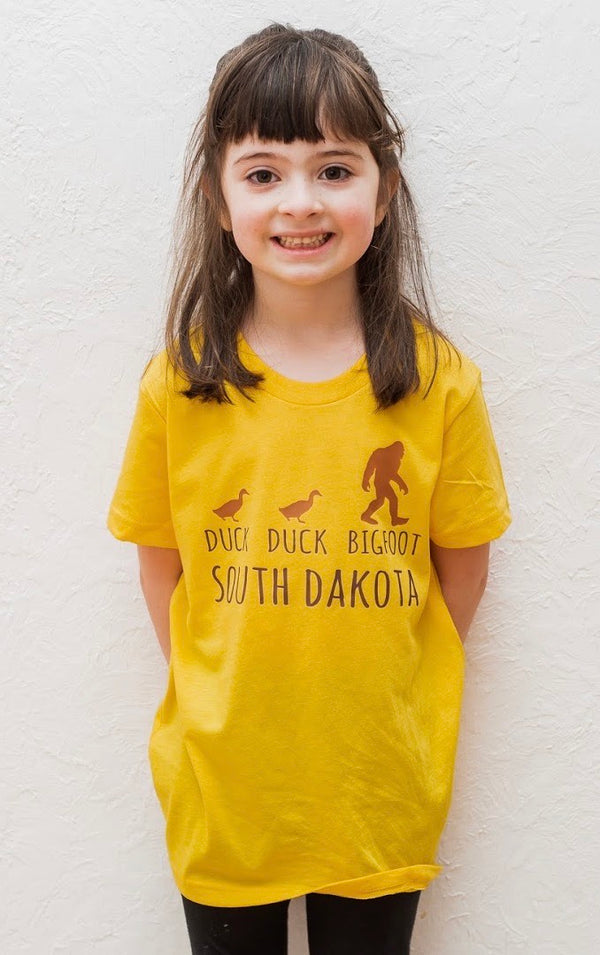 Duck Duck Bigfoot South Dakota Tee; Toddler/Youth