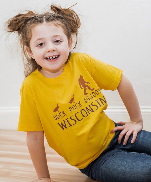 Duck Duck Bigfoot Wisconsin Tee; Toddler/Youth