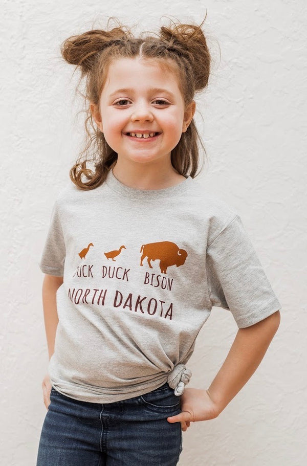 DUCK DUCK BISON TEE North Dakota - Toddler