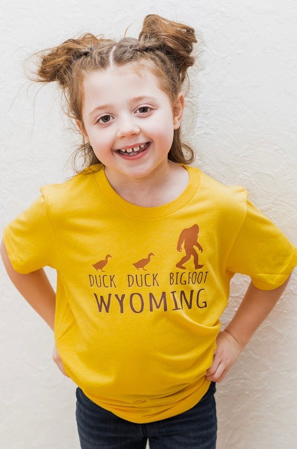 Duck Duck Bigfoot Wyoming Tee; Toddler/Youth