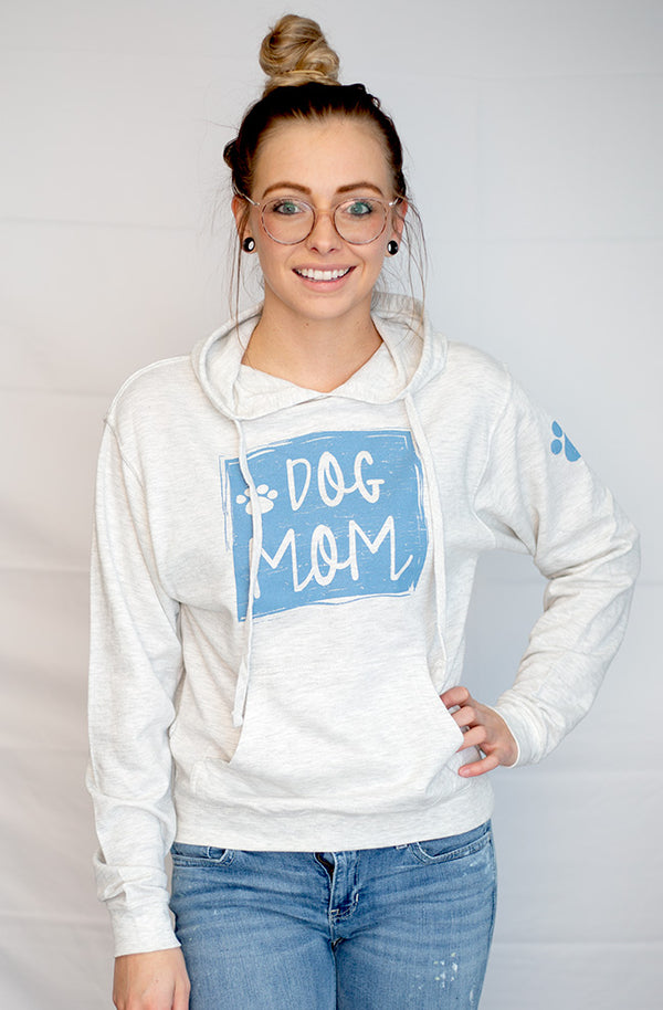 Dog Mom - Lightweight Hoodie Sweatshirt