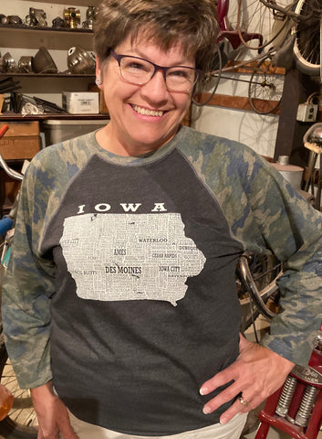 Hometown Iowa - Baseball Tee