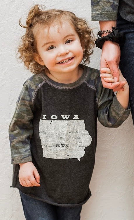 Hometown Iowa - Baseball Tee Toddler