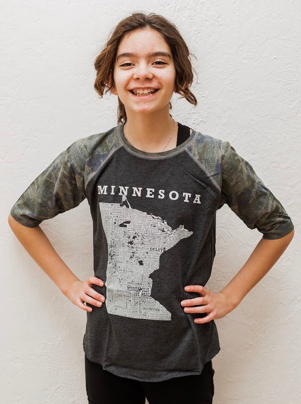 Hometown Minnesota - Baseball Tee - Youth