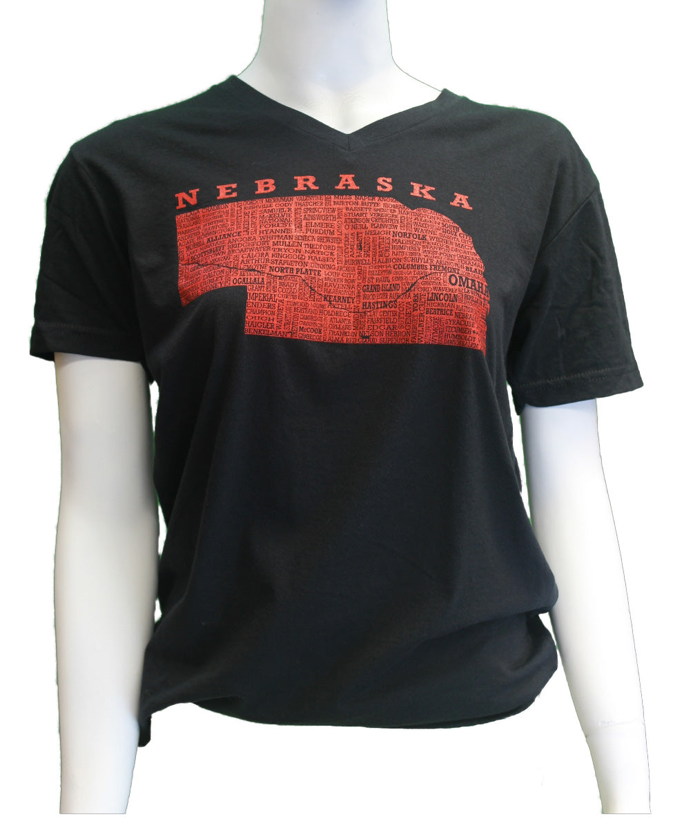 Hometown Nebraska - Black - Tee