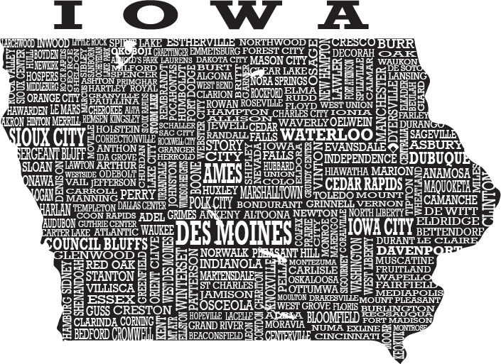 Hometown Iowa - Sueded Tee