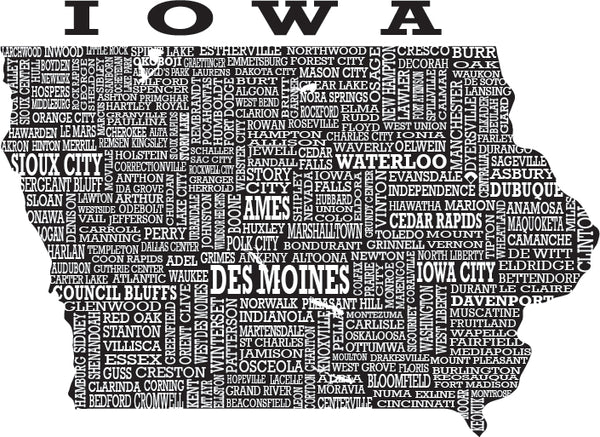 A picture of the graphic used for Hometown Iowa shirts.