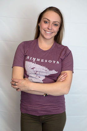 Hometown Minnesota - Tee - Heather Maroon