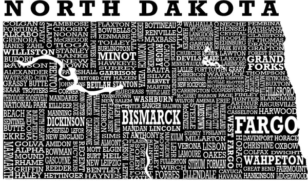 Hometown North Dakota - Tees - Scratchpad Tees