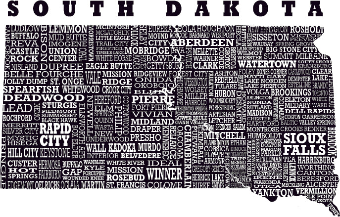 Hometown South Dakota - Youth - Baseball Tee