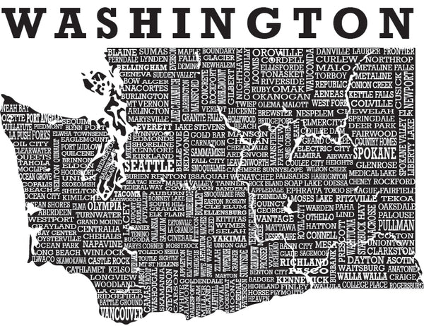 Hometown Washington - Sweatshirt - Scratchpad Tees