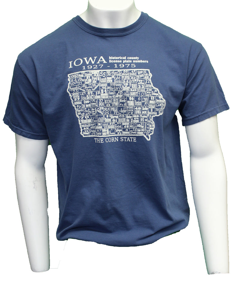 Iowa By the Numbers; Short Sleeve - Midnight